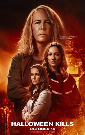 Halloween-Kills-2021-movie-film-three-generations-Strode-strong-poster