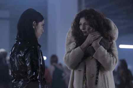 Brand-New-Cherry-Flavor-horror-series-Netflix-Catherine-Keener-Rosa-Salazar-shiny-black-PVC-coat