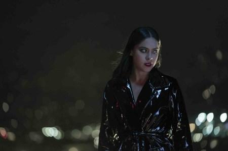 Brand-New-Cherry-Flavor-horror-series-Netflix-Rosa-Salazar-shiny-black-PVC-coat-1