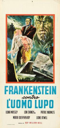 Frankenstein-Meets-the-Wolf-Man-movie-film-horror-Universal-1943-review-reviews-poster-Italian-locandina