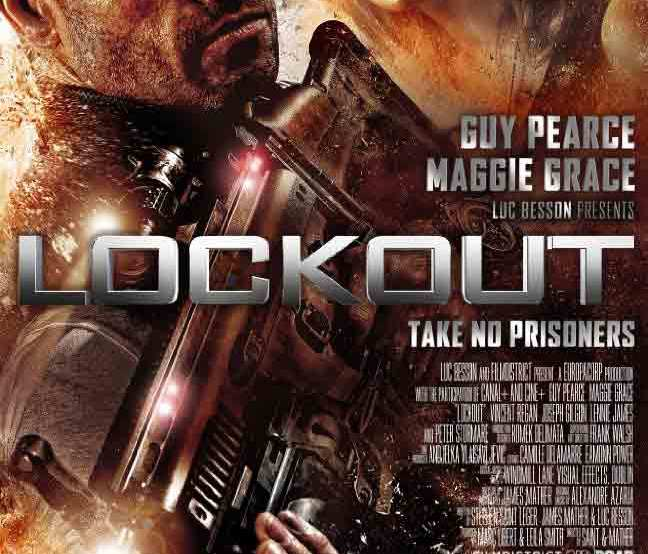 Lockout movie poster 2012 produced by Luc Besson starring Guy Pierce