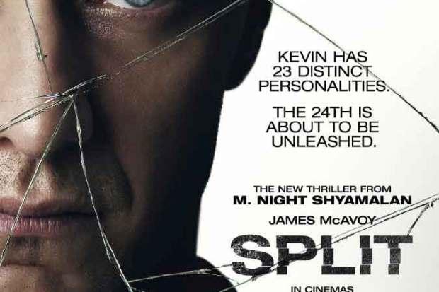 Split movie poster starring James McAvoy directed by M. Night Syamalan