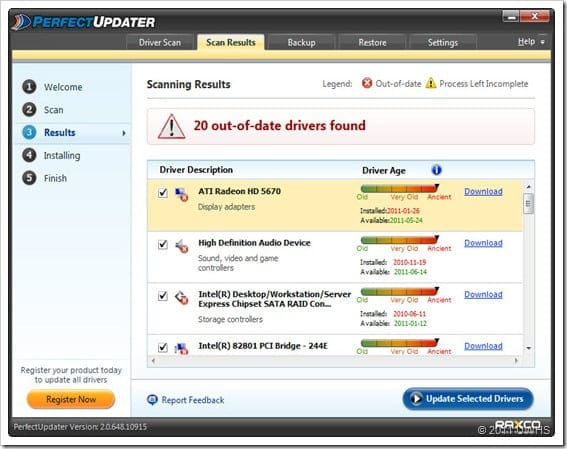 UWHS Review of Raxco PerfectUpdater