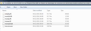 MW3 Sound Folder