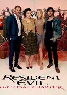 "Los Angeles, CA - Saturday, Jan. 7: William Levy, Milla Jovovich, Ali Larter and Eoin Macken at the Screen Gems' ""Resident Evil: The Final Chapter"" Photo Call at The London Hotel of West Hollywood.(Photo by Eric Charbonneau/Invision for Sony Pictures/AP Images)"