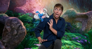 "Jack McBrayer voices ""Clumsy"" in Columbia Pictures and Sony Pictures Animation's SMURFS: THE LOST VILLAGE."
