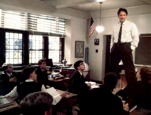 Renowned acting performance from Robin Williams in Dead Poets Society