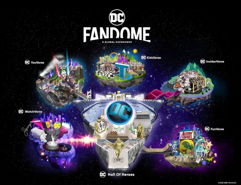 The DC FanDome universal map