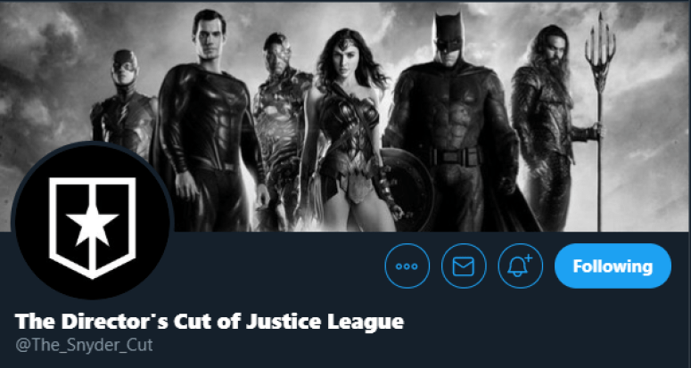 The Snyder Cut official logo on display.