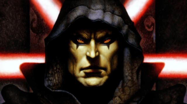Darth Bane is an unmistakable force among all of the Sith Lord universe.