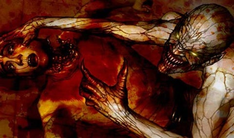 violent horror porn art