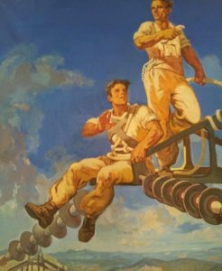 Socialist realism in art celebrating physical strength