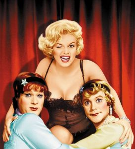 Tony Curtis, Marilyn Monroe, and Jack Lemmon in Some Like It Hot