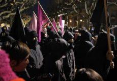 Violent protesters at UC Berkeley