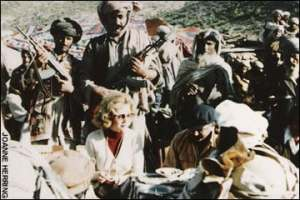 Joanne King Herring, in Afghanistan