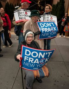 Activists protest fracking outside Gov. Cuomo's office