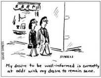 Cartoon about cognitive dissonance