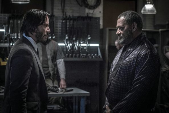 Keanu Reeves & Laurence Fishburne in John Wick: Chapter 2