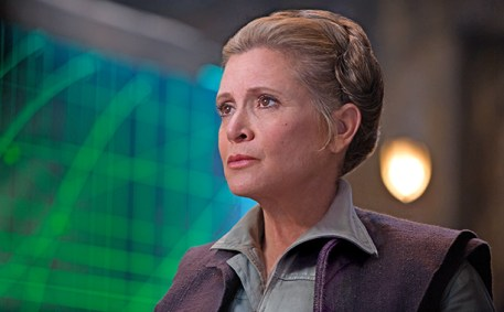 Carrie Fisher as General Leia in Star Wars: The Force Awakens