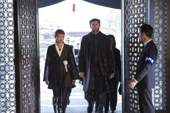 Rila Fukushima & Hugh Jackman in The Wolverine