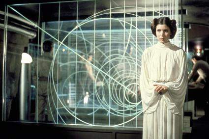 Carrie Fisher as Princess Leia in Star Wars - Episode VI: A New Hope