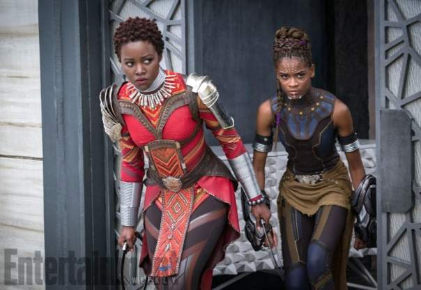 Lupita Nyong'o & Letitia Wright in Black Panther