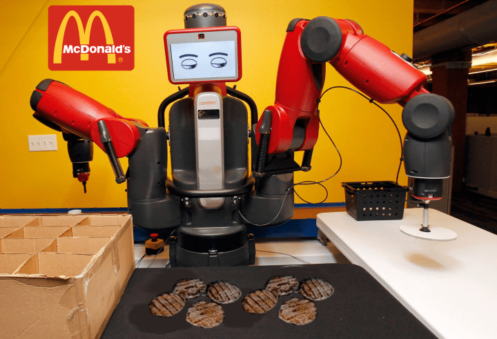 Image result for robots working at mcdonalds