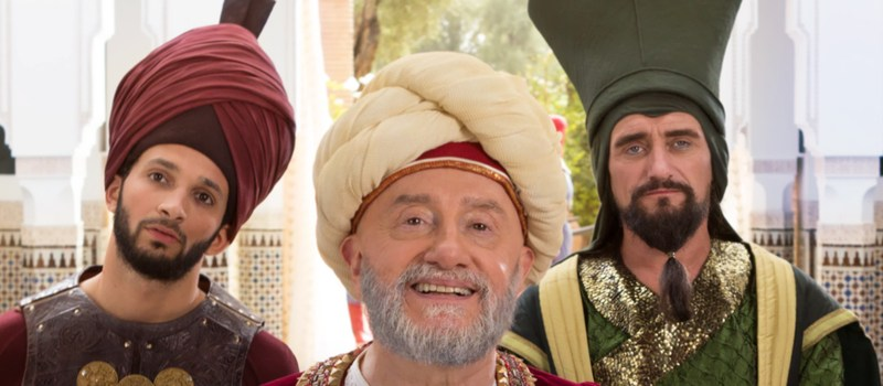 Et lille familie billede. Aladdins ven Khalid, Sultanen og Visiren.