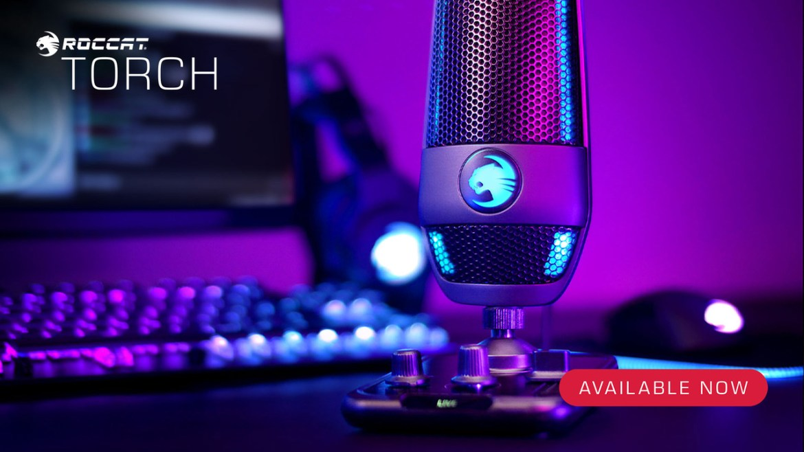 ROCCAT's Torch Microphone is now available in Denmark!