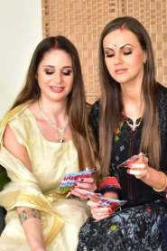 Diwali Party Turned Into 3some Anal With Bhabhi & Wife NiksIndian 2021 Hindi Short Film