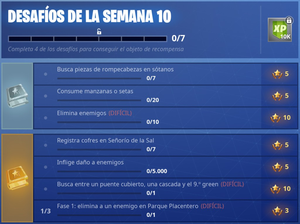 Fortnite Semana 10 Temporada 5