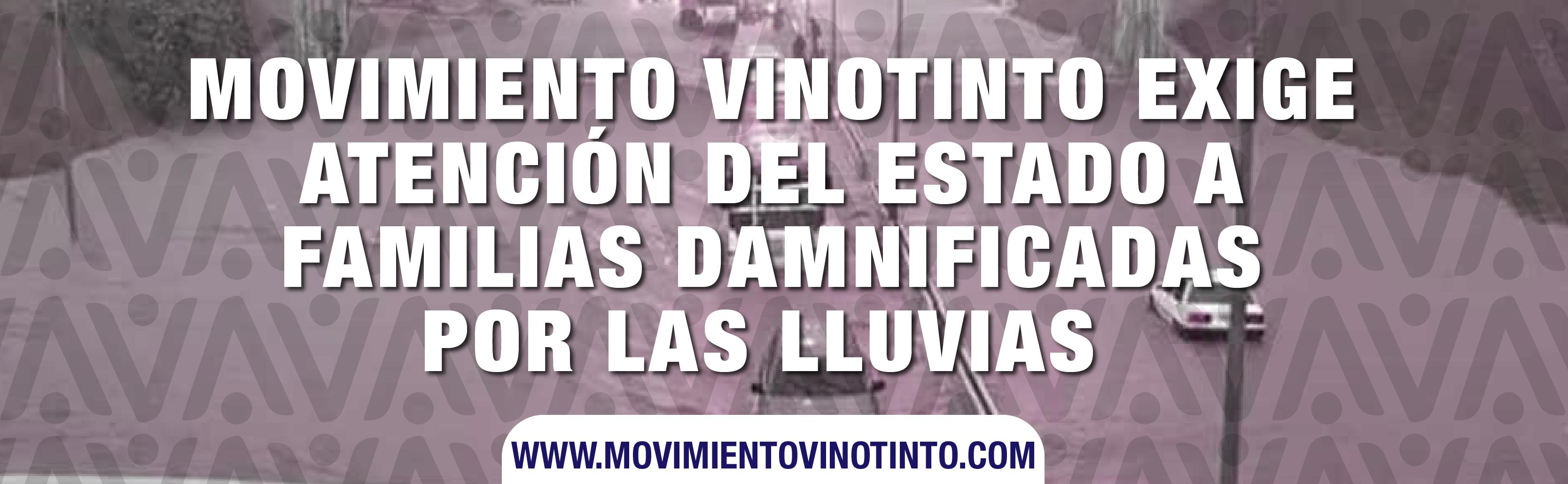 Movimiento Vinotinto exige atención del Estado a familias damnificadas por las lluvias