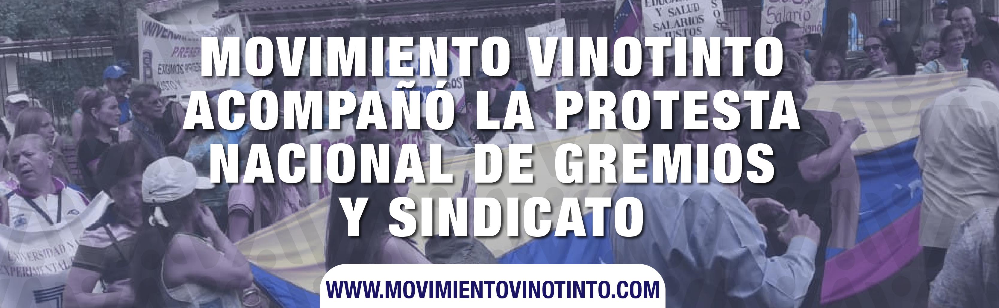 Movimiento Vinotinto acompañó la protesta nacional de gremios y sindicatos #5OCT
