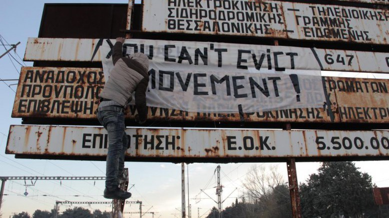 You can't evict a movement! Photo: Moving Europe