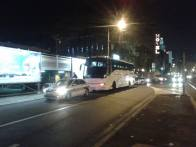 Buses waiting for departure
