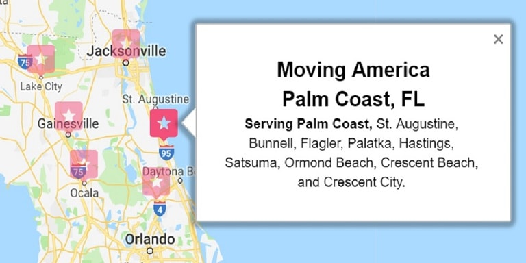 Moving America Service Area Palm Coast FL
