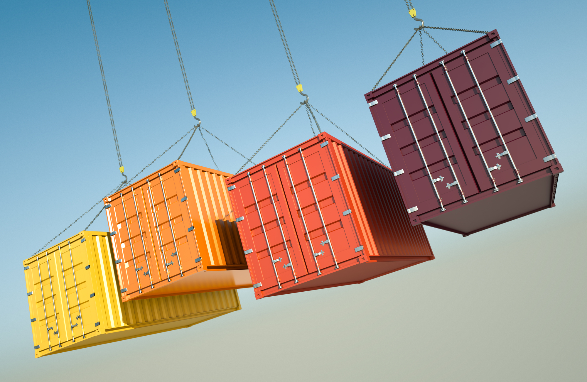 ocean moving containers