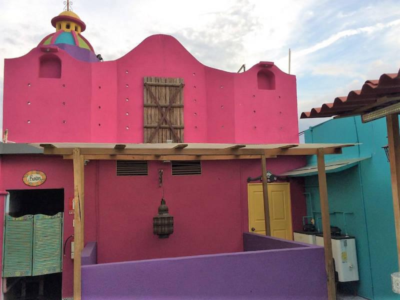 Terrasse des Casona de las Flores in Querétaro