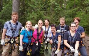 Abschieswochenende mit den alten Schulfreunden im Kletterpark Hohenfelden