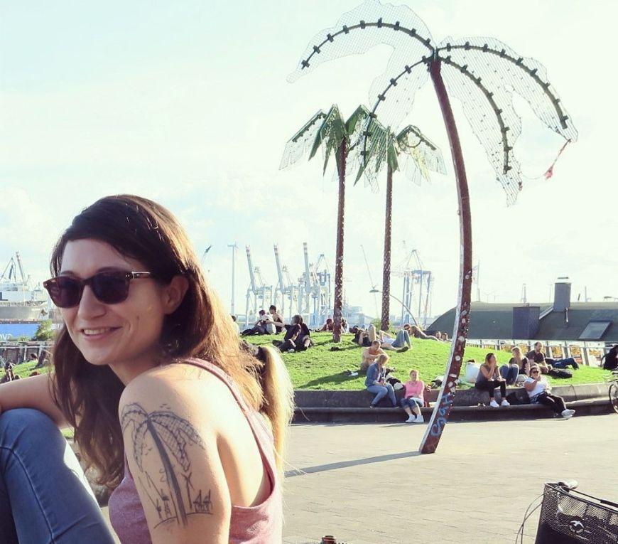 Mein Tattoo vom Park Fiction, meinem Lieblingsplatz in Hamburg