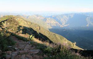 Weg CuatroPalos - Aufstieg yum View Point Quatro Palos