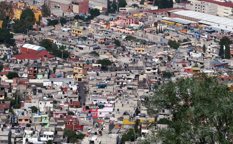 "Blick auf Iztapalapa vom ""Parque Cerro de la Estrella"""