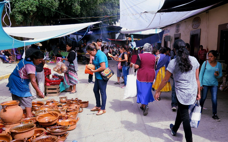 Tianguis in Tlacolula, Oaxaca, Mexiko