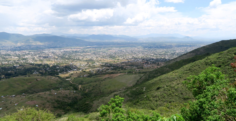 Aussicht von Monte Alban