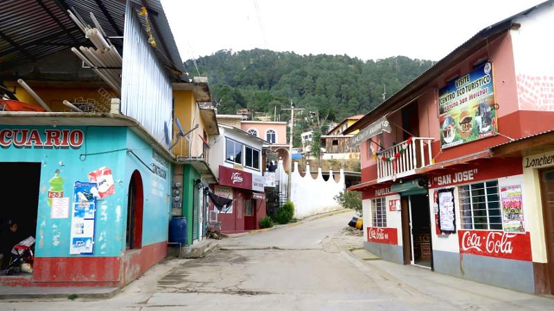 In den Straßen von San José del Pacifico, Oaxaca