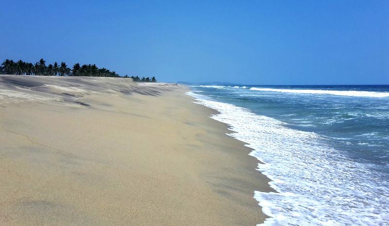 Manialtepec Strand 1 - Zwei Monate Mexiko - Backpacking Reiseroute