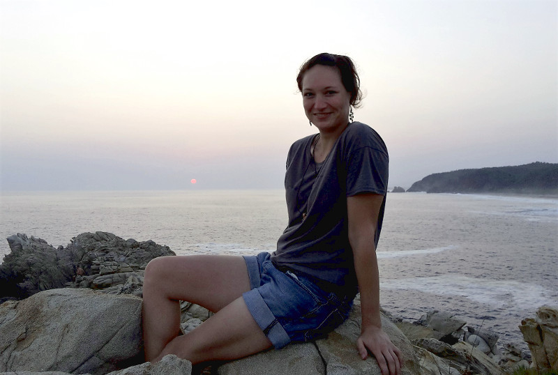 Mazunte Sonnenuntergang ich - Zwei Monate Mexiko - Meine Reiseroute