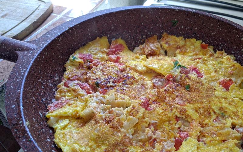 Pfanne - Rezept Huevos a la Mexicana – Mexikanisches Rührei