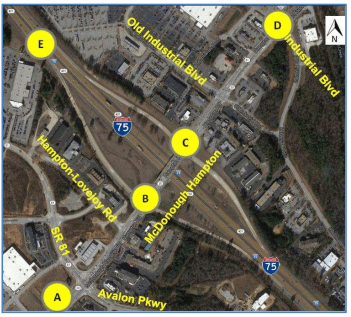 Map of Exit 218 Travel Paths