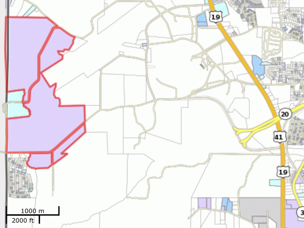 Location of Lower Woolsey Henry 780 rezoning